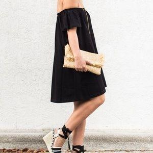 ZARA Premium Denim Black Dress